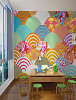 cheap -Custom Self Adhesive Mural Wallpaper Japanese Fresh Picture Children Cartoon Style Suitable For Bedroom Children's Room School Party Art Deco   Home Decoration   Room Wallcovering