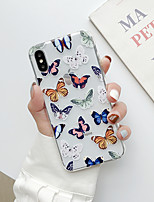 cheap -Case For Apple iPhone 6 6s iPhone7 iPhone8 iPhoneX iPhone XR iPhone XS Max iPhone11 iPhone11 Pro Transparent Sofe TPU with Butterfly Pattern Back Cover