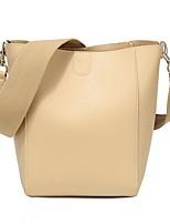 cheap -Women's Zipper / Chain PU Bag Set 2020 Solid Color Black / Khaki / Brown