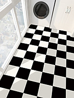 cheap -PVC antiskid twill print black and white paste bathroom bedroom living room DIY floor paste