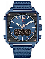 cheap -Sport Watch Quartz Modern Style Stylish Casual Water Resistant / Waterproof Genuine Leather Analog - Digital - Black / Silver Black Blue / Stainless Steel / Calendar / date / day / Noctilucent