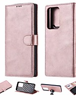 cheap -Case For Samsung Galaxy Note 9 / Note 8 / Galaxy S10 Card Holder / Flip Full Body Cases Solid Colored PU Leather