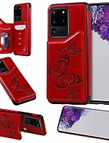 cheap -Case For Samsung Galaxy Galaxy S10 / Galaxy S10 Plus / Galaxy S10 E Card Holder / with Stand Back Cover Butterfly PU Leather