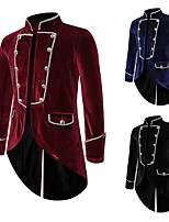 cheap -Plague Doctor Vintage Gothic Steampunk Masquerade Tuxedo Men's Costume Black / Burgundy / Navy Blue Vintage Cosplay Event / Party Long Sleeve / Coat
