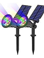 cheap -2pcs 1pcs Solar Powered 7 LED Lamp Adjustable Solar Spotlight In-Ground IP65 Waterproof Landscape Wall Light Outdoor Lighting