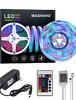 cheap -MASHANG Bright RGBW LED Strip Lights 5M RGBW Tiktok Lights 1170LEDs SMD 2835 with 24 Keys IR Remote Controller and 100-240V Adapter for Home Bedroom Kitchen TV Back Lights DIY Deco