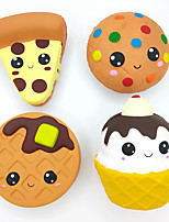 cheap -Squishy Squishies Squishy Toy Squeeze Toy / Sensory Toy Jumbo Squishies Dessert Cupcake Waffle Soft Stress and Anxiety Relief Slow Rising PU For Kid's Adults' Boys and Girls Gift Party Favor 4 pcs