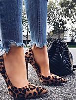 cheap -Women's Heels Summer Stiletto Heel Pointed Toe Daily Suede Dark Brown