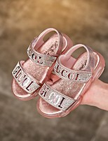 cheap -Girls' LED Shoes PVC Sandals Little Kids(4-7ys) Pink / Silver Summer