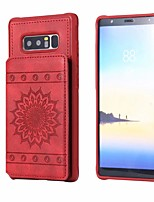 cheap -Case For Samsung Galaxy Note 9 / Note 8 / Galaxy S10 Card Holder / with Stand Back Cover Flower PU Leather