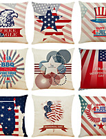 cheap -Set of 9 Independence Day Room Decoration Pillow Cover 4th Of July Pillow Cases Sofa Cushion Cover Home Pillow Case Pillow Covers