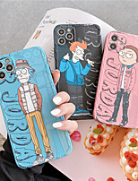 cheap -Phone Cases for Iphone 11pro Max se 2020  Case Rick and Morty Anime Soft Cortex Phone Case Apple Iphone XSmax/XR/8/7 Case Phone Bags