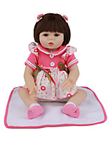 cheap -FeelWind 18 inch Reborn Doll Baby & Toddler Toy Reborn Toddler Doll Baby Girl Gift Cute Lovely Parent-Child Interaction Tipped and Sealed Nails Full Body Silicone LV021 with Clothes and Accessories