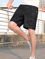 cheap -Men's Hiking Shorts Summer Outdoor Breathable Quick Dry Stretchy Sweat-wicking Elastane Shorts Bottoms Hunting Fishing Climbing Dark Grey Black L XL XXL XXXL 4XL / Wear Resistance