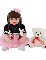 cheap -FeelWind 18 inch Reborn Doll Baby & Toddler Toy Reborn Toddler Doll Baby Girl Gift Cute Lovely Parent-Child Interaction Tipped and Sealed Nails Full Body Silicone LV071 with Clothes and Accessories