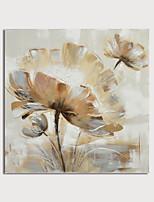 Недорогие -ручная роспись холст масляные краски абстрактный цветок украшения дома с рамкой картины готовы повесить