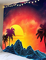 cheap -Red sunrise scenery tapestries series hang cloth background cloth decorative cloth 100% polyester fiber fabrics