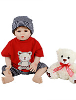 cheap -FeelWind 18 inch Reborn Doll Baby & Toddler Toy Reborn Toddler Doll Baby Boy Gift Cute Lovely Parent-Child Interaction Tipped and Sealed Nails Full Body Silicone LV012 with Clothes and Accessories
