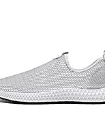 cheap -Men's Spring Casual / Preppy Daily Loafers & Slip-Ons Walking Shoes Mesh Warm Shock Absorbing Wear Proof Dark Grey / White