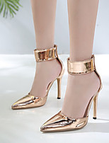 cheap -Women's Heels Summer Stiletto Heel Pointed Toe Daily PU Gold