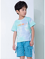 cheap -Kids Boys' Street chic Tie Dye Short Sleeve Tee Light Blue