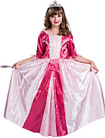 cheap -Princess Aurora Flower Girl Dress Girls' Movie Cosplay A-Line Slip Pink Dress Halloween Children's Day Masquerade Polyester
