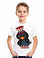 cheap -Kids Boys' Basic Flag Short Sleeve Tee White