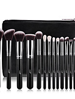 cheap -Professional Makeup Brushes 15pcs Professional Soft Full Coverage Wooden / Bamboo for Eyeliner Brush Blush Brush Foundation Brush Eyebrow Brush Eyeshadow Brush