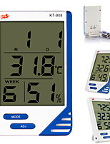 cheap -KT-908 LCD 1.5V Display Digital Temperature Humidity Meter Indoor Outdoor temperature Humidity Simultaneously Showing