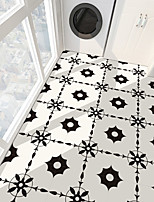cheap -PVC antiskid twill black and white series floor stickers for bathroom bedroom living room DIY floor stickers