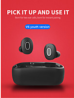 cheap -LITBest V6 TWS True Wireless Earbuds Wireless Bluetooth 5.0 Stereo Dual Drivers with Charging Box Waterproof IPX4 Auto Pairing for Mobile Phone