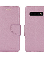 cheap -Case For Samsung Galaxy S20/S20 Plus/S20 Ultra/S10/S10E/S10 Plus/S10 5G/S9/S9 Plus/A10S/A10/A20/A20S/A30 Card Holder / Shockproof / Flip Full Body Cases Solid Colored PU Leather / TPU