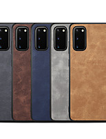 cheap -Case For Samsung Galaxy S20/S20 Plus/S20 Ultra/S10/S10 Plus/S10E/S10 5G/S10 Lite/S9/S9 Plus/S8/S8 Plus/Note 10 Shockproof Back Cover Solid Colored PU Leather / TPU