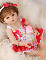 cheap -FeelWind 18 inch Reborn Doll Baby & Toddler Toy Reborn Toddler Doll Baby Girl Gift Cute Lovely Parent-Child Interaction Tipped and Sealed Nails Full Body Silicone LV042 with Clothes and Accessories