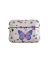 cheap -Cute Blue Pink Butterfly For Airpods pro  Cases Protector Silicone Soft TPU Exotic Cover For Air Pods Pro 3 Case Etui Coque with Hook