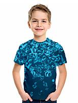 cheap -Kids Boys' Basic Geometric Print Short Sleeve Tee Blue