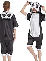 cheap -Kid's Kigurumi Pajamas Panda Onesie Pajamas Silk Fabric Black Cosplay For Boys and Girls Animal Sleepwear Cartoon Festival / Holiday Costumes / Leotard / Onesie