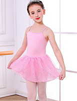 cheap -Kids' Dancewear Gymnastics Dress Ruching Girls' Training Daily Wear Polyester