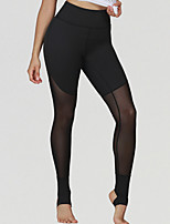 cheap -Women's Yoga Basic Legging - Solid Colored Mid Waist Black XS S M