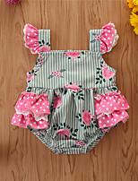 cheap -Baby Girls' Basic Print Sleeveless Romper Green