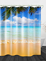 cheap -Beach Clouds Digital Print Waterproof Fabric Shower Curtain for Bathroom Home Decor Covered Bathtub Curtains Liner Includes with Hooks