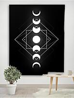 cheap -Starry Print Tapestry Moderne Art Wall Opknoping Polyester Leeuw Maan Patroon Fantacy Deken Tapijt Indoor Home Harmonieuze Decor