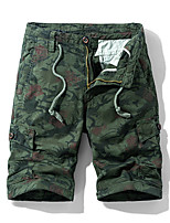 cheap -Men's Hiking Shorts Camo Summer Outdoor Standard Fit Breathable Quick Dry Sweat-wicking Wear Resistance Cotton Shorts Bottoms Camping / Hiking Hunting Fishing Light Tan Yellow Army Green 28 29 30 31