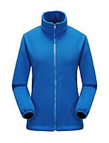 cheap -Women's Hiking Fleece Jacket Winter Outdoor Thermal / Warm Windproof Fleece Lining Breathable Winter Fleece Jacket Full Length Visible Zipper Hunting Fishing Climbing Purple / Red / Dark Purple