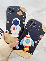 cheap -Cute Cartoon astronaut Space Phone case For iPhone 11 Pro Max xs 2020 X XS XR 7 8 Plus Funny Clear Soft TPU Cover Back
