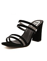 cheap -Women's Sandals / Slippers & Flip-Flops Summer Pumps Open Toe Daily PU White / Black / Clear / Transparent / PVC