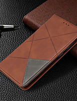 cheap -Case For Huawei P Smart 2020 Huawei P40 Huawei P40 Pro Card Holder  with Stand Full Body Cases Geometric Pattern PU Leather for P40 lite P smart P30 lite P30pro