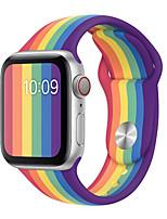 Недорогие -Ремешок для часов для Apple Watch Series 5 / Apple Watch Series 4/3/2/1 Apple Спортивный ремешок силиконовый Повязка на запястье