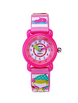 cheap -Kids Sport Watch Quartz Water Resistant / Waterproof Analog Cartoon Colorful - Blue Purple Blushing Pink