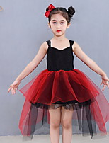 cheap -Kids' Dancewear Tutu Dress Dress Ruching Girls' Training Daily Wear Polyester